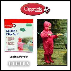 BRAND-NEW-IN-BOX-CLIPPASAFE-SPLASH-PLAY-SUIT-90CM-IN-RED