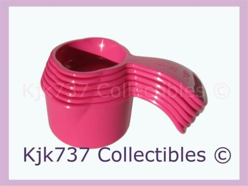 BRAND NEW SET OF 6 TUPPERWARE NESTING MEASURING CUPS FUCHSIA PINK 1/4 CUP -1 CUP in Collectibles, Kitchen & Home, Kitchenware | eBay