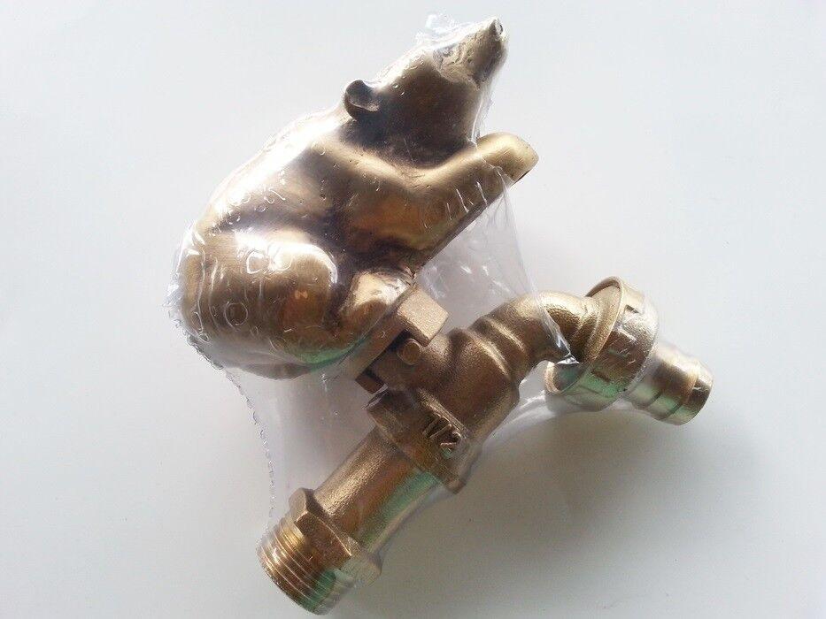 New Brass Garden Bear Spigot Tap Faucet Vintage Water Home Decor Living Outdoor Ebay