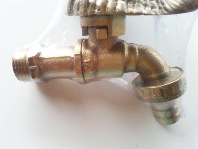 Brass garden conch spigot shell faucet tap water yard home