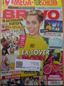 BRAVO-35-20-8-2014-1-Miley-Cyrus-Biber-Hummels-Tuerschilder-Autogrammkarten