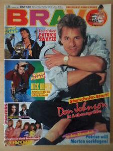 BRAVO-8-12-2-1987-Don-Johnson-Patrick-Swayze-Bonnie-Bianco-Pierre-Cosso