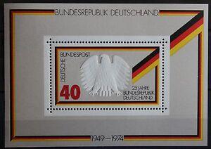 BRD-Briefmarken-1974-Block-10-25-Jahre-Bundesrepublik-postfrisch