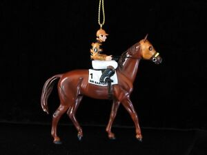 BREYER-TRIPLE-CROWN-SIR-BARTON-CHRISTMAS-ORNAMENT-RACING-RACE-HORSE