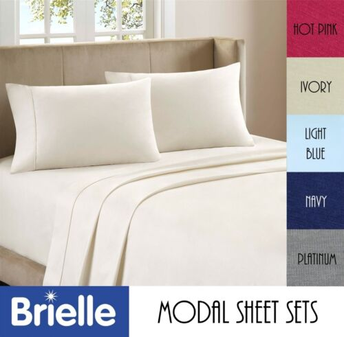 BRIELLE PURE BEECH MODAL JERSEY 4PCs SHEET SET OR 2PCs PILLOWCASE SET in Home & Garden, Bedding, Sheets & Pillowcases | eBay
