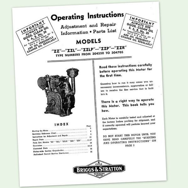 Briggs And Stratton 28n707 Service Manual
