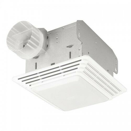 Broan 678 50 cfm 2 5 sones bathroom exhaust ventilation for 2 bathroom exhaust fan venting