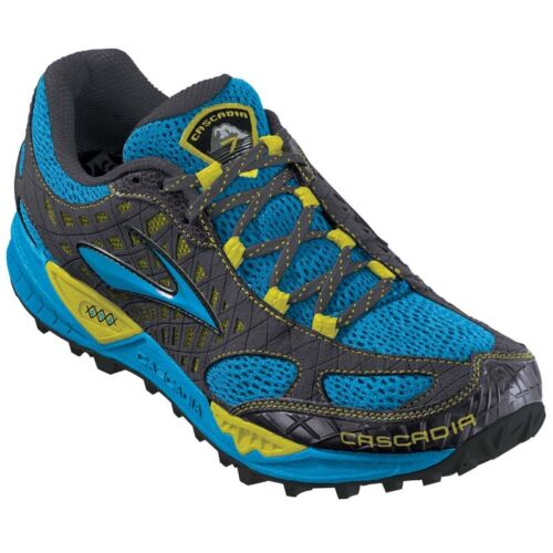 BROOKS CASCADIA 7 TRAIL SHOES - MEN'S SIZE 9 - EURO BLUE - BRAND NEW! in Clothing, Shoes & Accessories, Men's Shoes, Athletic | eBay