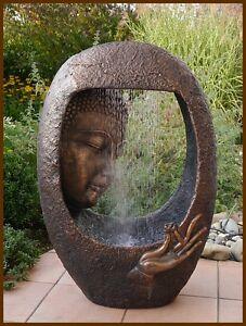 buddha brunnen gartenbrunnen wasserwand 90 cm ho led. Black Bedroom Furniture Sets. Home Design Ideas