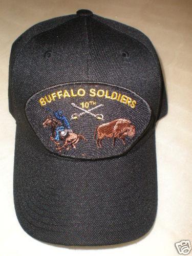 BUFFALO SOLDIERS (10TH CAVALRY) MILITARY BASEBALL CAP