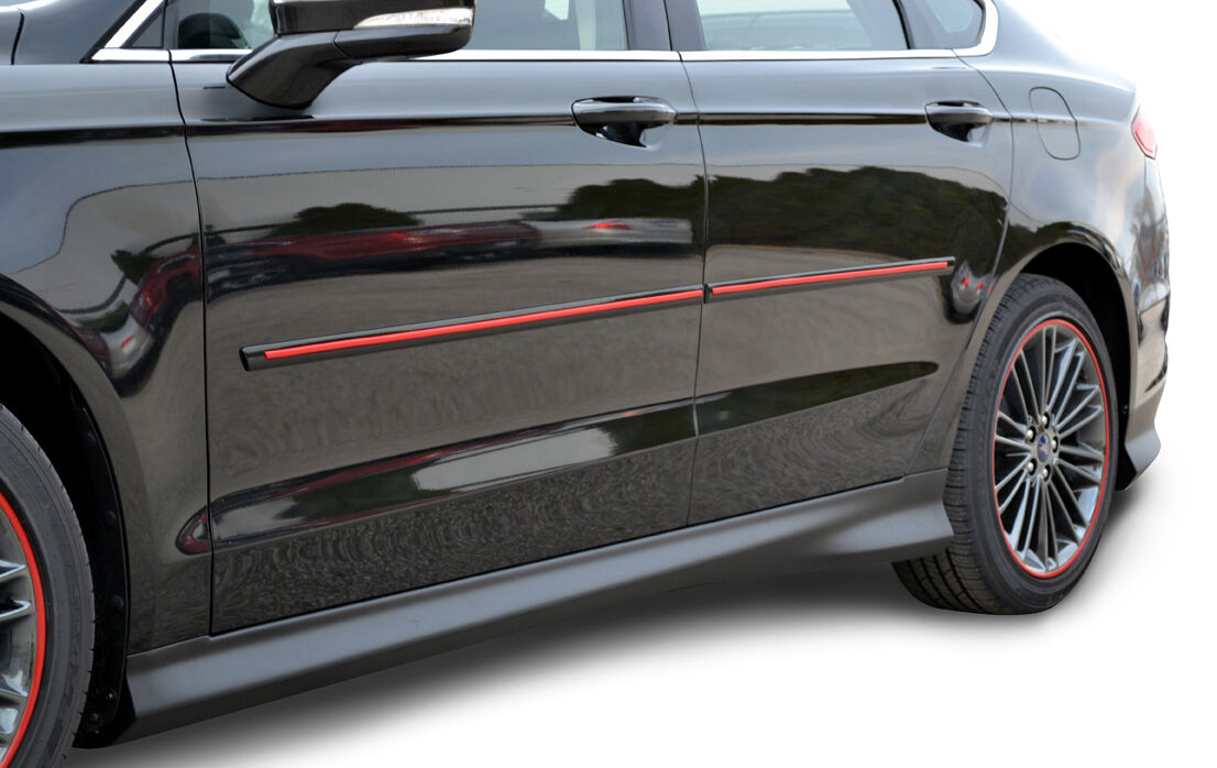 For Jeep Compass Painted Body Side Moldings With Red
