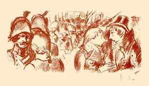 BÜRGERPALAVER - Fritz HEUBNER 1923 Handsignierte Orig.RötelLithographie BALZAC - <span itemprop=availableAtOrFrom>berlin, Deutschland</span> - Die folgende Belehrung entspricht dem neuen vom Gesetzgeber in Anlage 1 zu Artikel 246a 1 Absatz 2 Satz 2 EGBGB bereitgestellten und ab 13.06.2014 gültigen Muster für die Widerrufsbelehrung - berlin, Deutschland