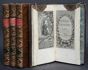 BURGERS-GEDICHTE-4-GANZLEDERBANDE-KUPFERSTICHE-1789-1792-RAR