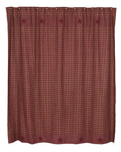 Primitive Country Star Shower Curtains