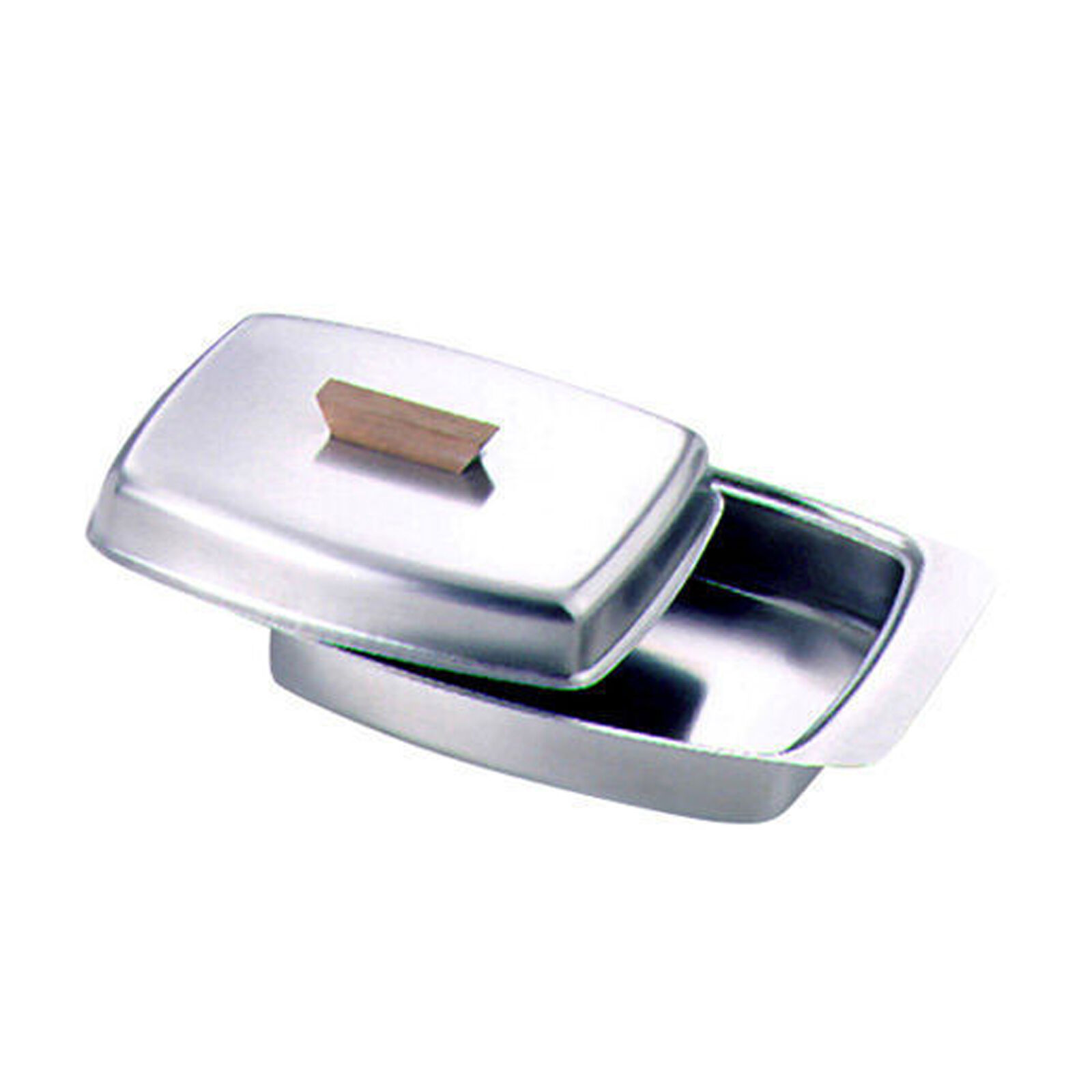 Butter Dish Lid With Wooden Knob Stainless Steel 11728