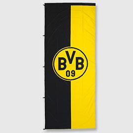 bvb 09 fahne flagge hissfahne emblem 400x150 neu fan artikel wow ebay. Black Bedroom Furniture Sets. Home Design Ideas