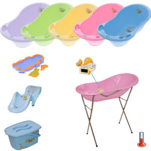 baby badewanne mit thermometer 1 9 teiliges set badesitz st nder badeunterlage ebay. Black Bedroom Furniture Sets. Home Design Ideas