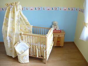 Baby-Bettwaesche-Bettset-mit-Nestchen-Kinderbettwaesche-Himmel-100x135cm-NEU