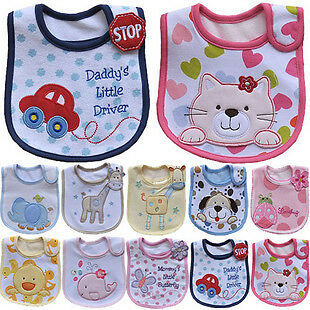 Baby Bib .kids bibs/ baby lunch bibs/ cute towel 3 Layer Waterproof in Baby, Feeding, Bibs | eBay