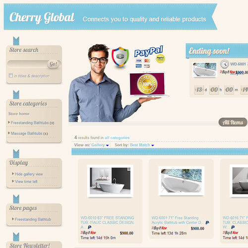 Baby Blue - eBay Professional Design Listing Template and Store Layout in Everything Else, eBay User Tools | eBay