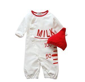 Baby Boy Girl Fancy Dress Up Party Romper MILK BOTTLE