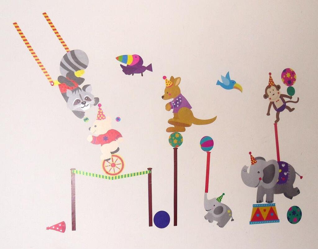 Baby Boy Girl Kid Children Bedroom Circus Wall Stickers