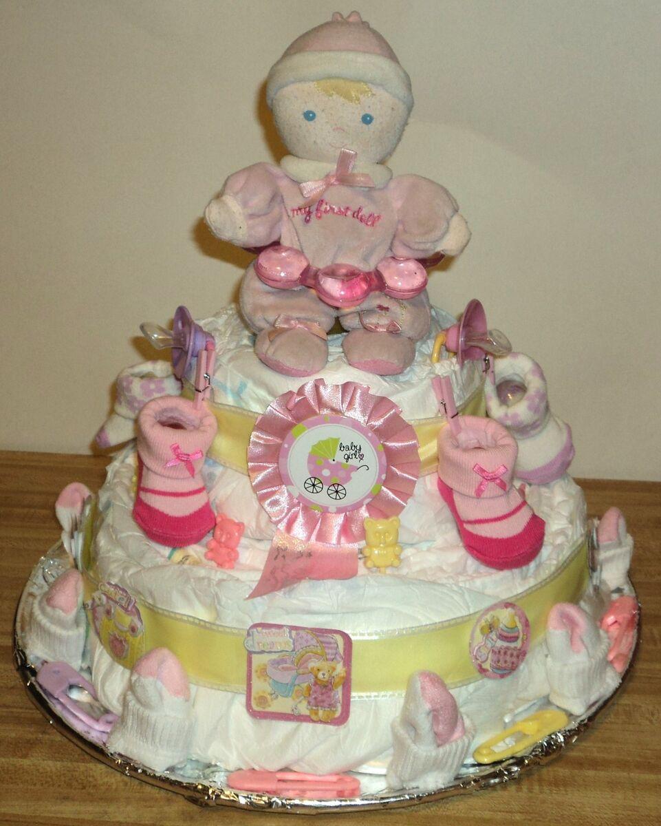 Baby Shower Diaper Cake Ideas Photos