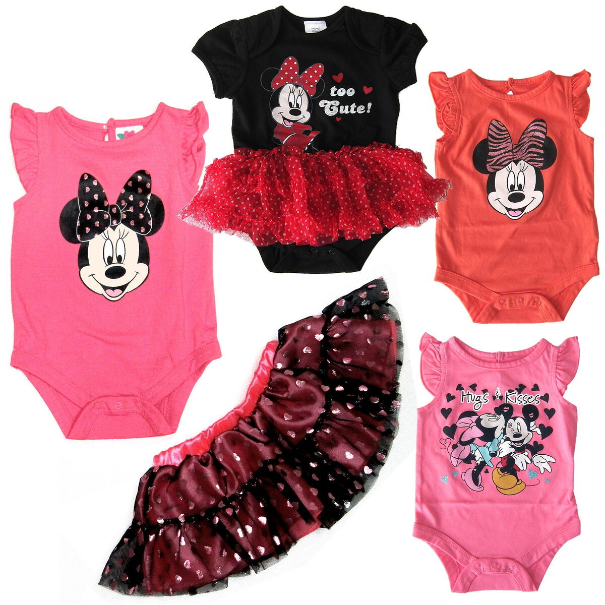 Baby Girl Bodysuit One Piece Shirt Disney Mickey Minnie Mouse Summer Clothes New