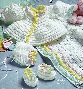 Online Crochet Patterns | Baby Layette Knit Crochet Patterns