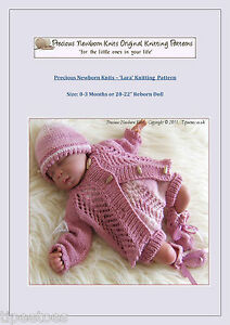Details about Baby Knitting Pattern 'Lara' Girls Set, Cardigan, Beanie