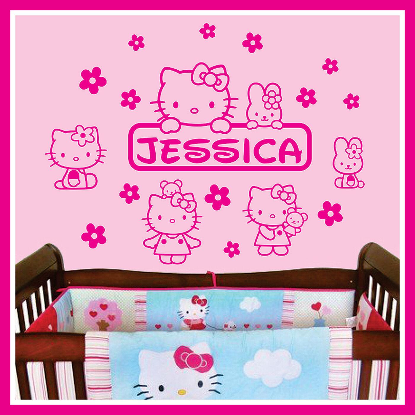 Baby Name Vinyl Wall Decal Sticker Art Decor for Kids Nursery ** HELLO