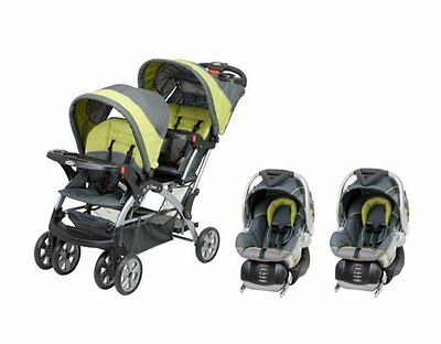 Baby Trend Sit N Stand Inline Double Baby Stroller Twin