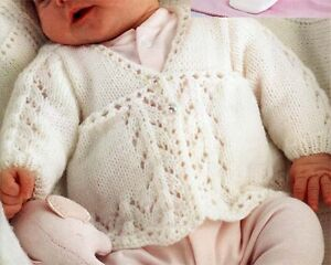 Details about Baby girl cardigan knitting pattern-Premat ure to 3