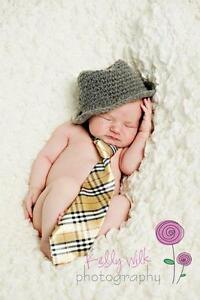 Month  Baby Picture Poses on Baby Newborn Boy Grey Fedora Hat Photography Props 0 3 Months Old