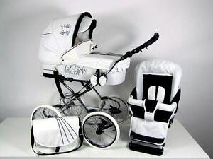 babybuu scarlett kombikinderwagen kinderwagen klassisch retro 2 in 1 ebay. Black Bedroom Furniture Sets. Home Design Ideas