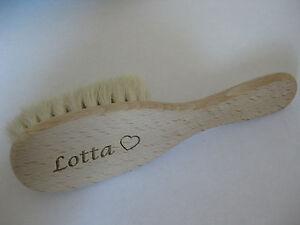 Babyhaarbuerste-Baby-Haarbuerste-mit-Namen-Gravur-Ziegenhaar-viele-Schriftarten