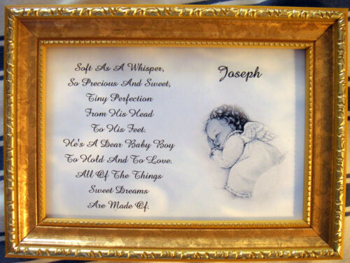Baby's Personalized Keepsake Poem ( Boy Or Girl ) Unframed in Baby, Keepsakes & Baby Announcements, Other | eBay