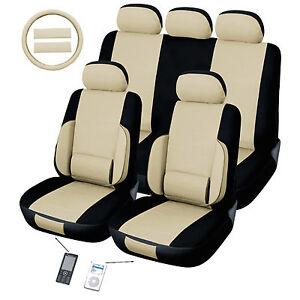 back support lumbar tan car seat cover ebay. Black Bedroom Furniture Sets. Home Design Ideas