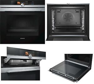 backofen mit dampfgarer siemens hs658gxs6 touchscreen a. Black Bedroom Furniture Sets. Home Design Ideas