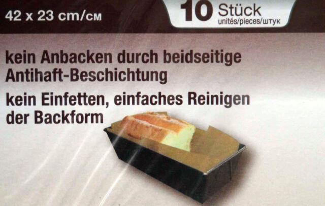 50 x Backpapier Zuschnitte für Königskuchen 43 x 23cm 5 x 10Stück TOP