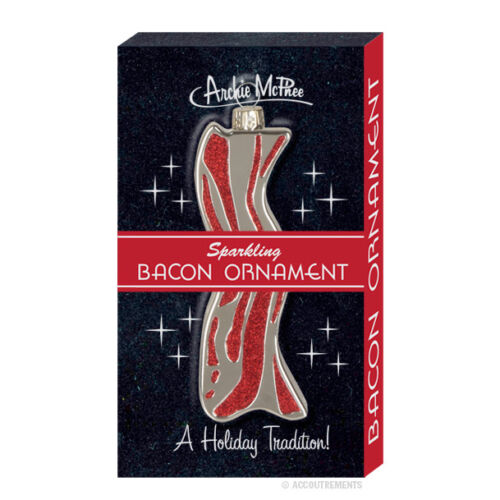 Bacon Christmas Tree Ornament - Funny Novelty Glitter - Rearview Mirror - NIB in Collectibles, Holiday & Seasonal, Christmas: Current (1991-Now) | eBay