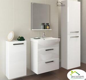 badm bel set 3 schr nke waschbecken 60 cm h ngend schubladen unterschrank m c ebay. Black Bedroom Furniture Sets. Home Design Ideas