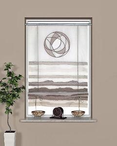 raffrollo fertiggardine ecrue taupe ca 60 cm breit 135 cm hoch. Black Bedroom Furniture Sets. Home Design Ideas