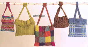 Knitting Pattern Central - Free Bags, Totes and Purses