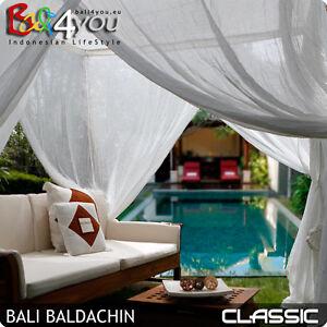 baldachin bali homely 2x2m betthimmel canopy baldaquin moskitonetz 4 quasten ebay. Black Bedroom Furniture Sets. Home Design Ideas
