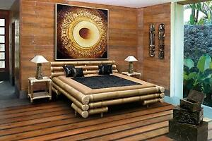 bali bambusbett bett futonbett 140 x 200 cm natur 56260001 ebay. Black Bedroom Furniture Sets. Home Design Ideas