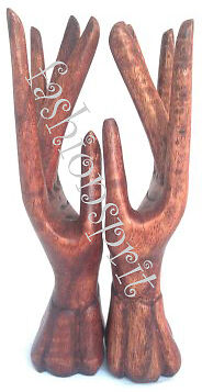 Bali Wood Craft Blessing Hand Decor Jewelry Ring Display / Holder / Organizer in Jewelry & Watches, Jewelry Boxes & Organizers, Jewelry Holders & Organizers | eBay