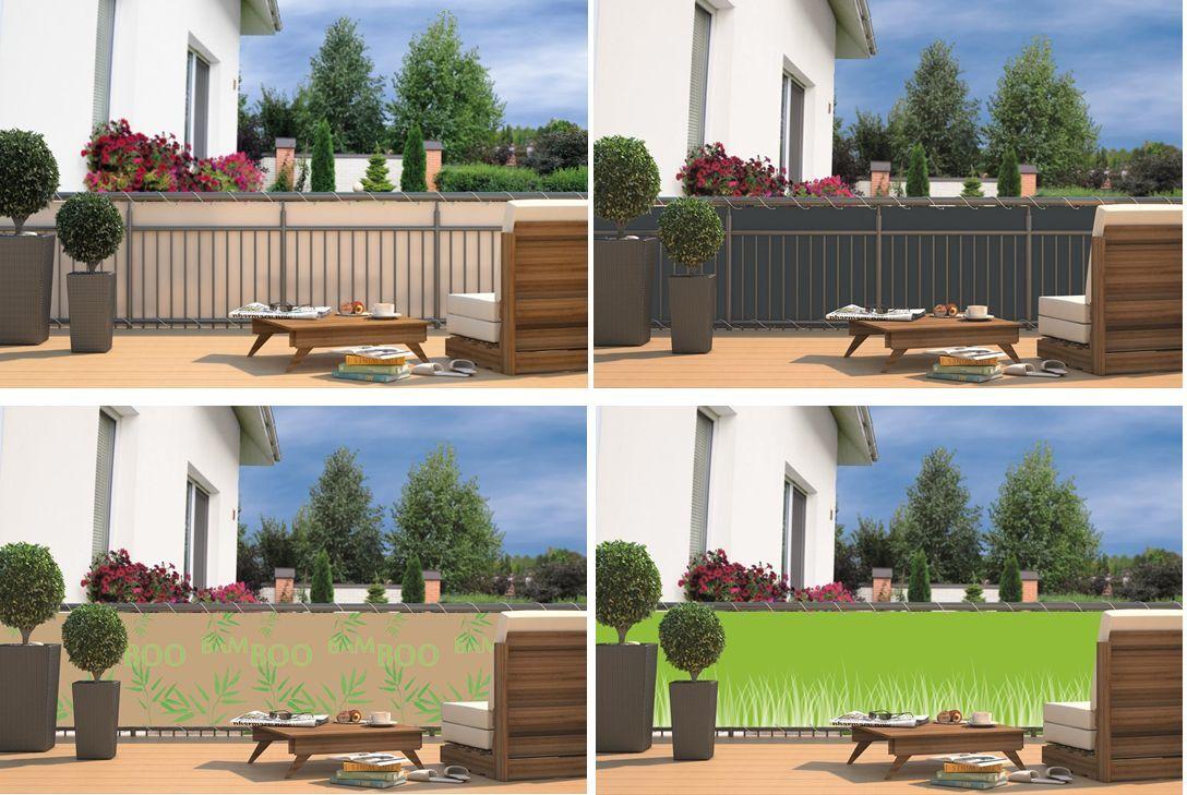 balkon sichtschutz sonnenschutz sichtschutzplane balkon gel nder markise 4farben ebay. Black Bedroom Furniture Sets. Home Design Ideas