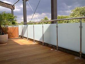 balkongel nder glas aluminium balkon gel nder vsg glas ebay. Black Bedroom Furniture Sets. Home Design Ideas