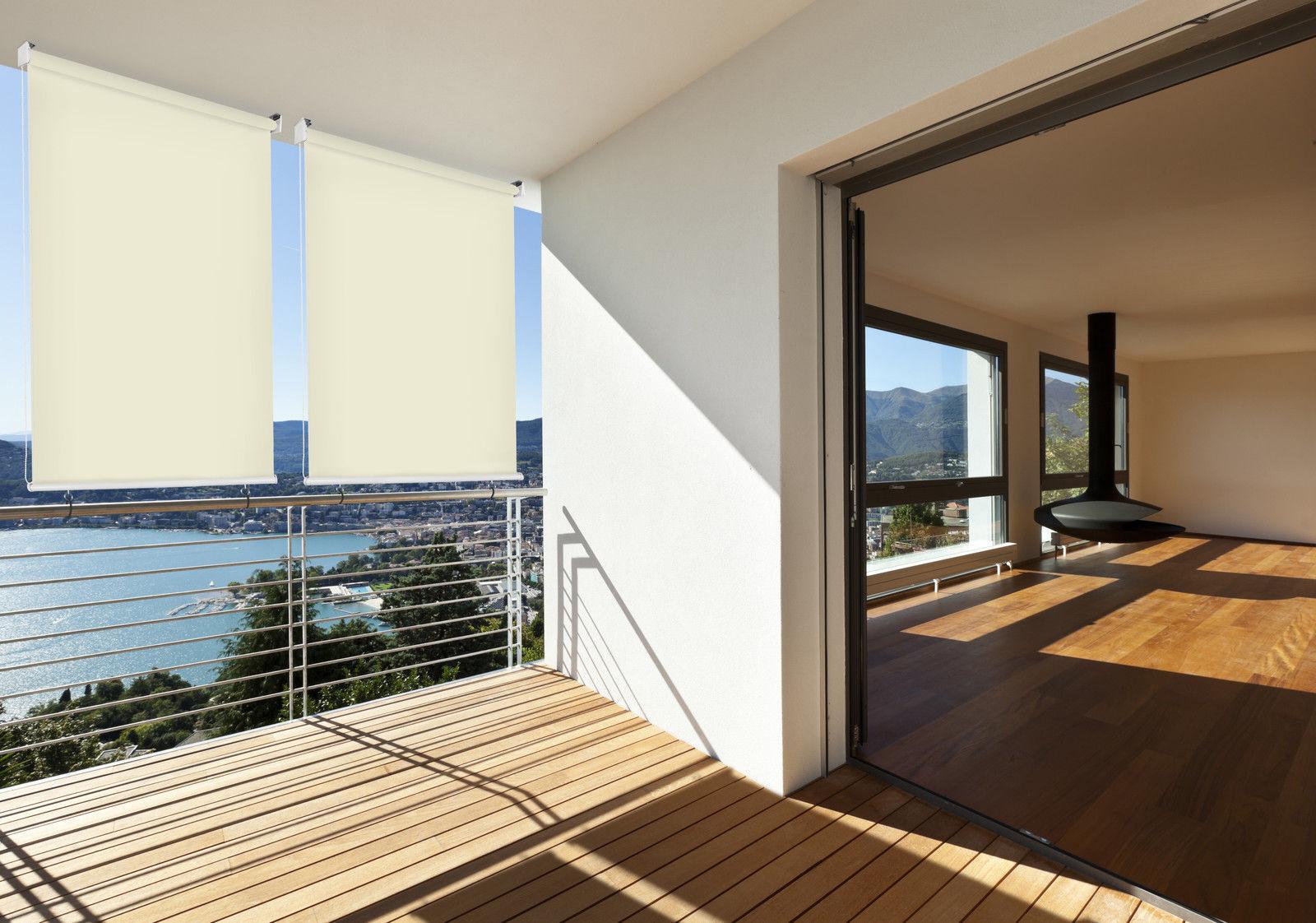 HECHT Sonnenschutz Außenrollo creme Sichtschutz Markise Windschutz
